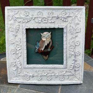 Owl framed jewelry art beautiful original art!